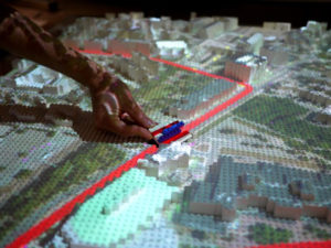 Legos and Projection Mapping as Urban Planning Tool